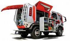 future, Fire-Fighting Wildfire Truck, vehicle, concept, red, Morita Holdings Corporation, transportation, futuristic