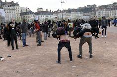 Manifestation contre la loi sur le travail (loi Elkhomri)  31 Mars 2016 - Lyon - France Copyright: Eric Le Roux / IRIS-Collectif
