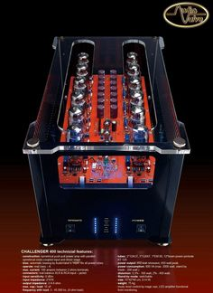 Challenger : highend PP powerfull mono blocks tube amplifier from AudioValve germany