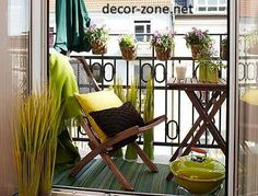 small balcony decorating ideas with plants pots
