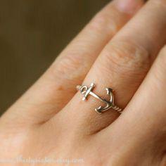 Anchor Ring Sterling Silver. 30.00 usd, via ThirtySixTen