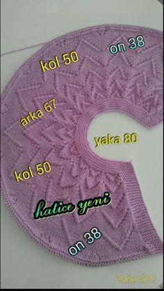 Sevgİ Butİk: Bebek Ülevalt All - Bebek Butİk - Diy Crafts Lace Knitting, Baby Knitting Patterns, Knitting Stitches, Knitting Designs, Baby Patterns, Baby Cardigan, Knit Baby Dress, Baby Pullover, Diy Crochet Sweater