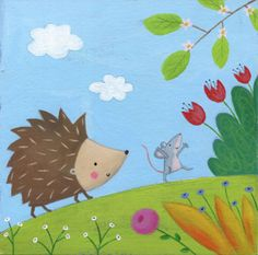 Lucy Barnard - Hedgehog Mouse Flowers