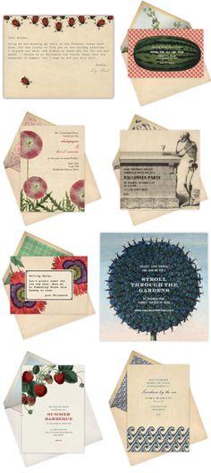 Vintage inspired invites
