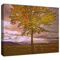 'Teton Meadow Fall' by Dean Uhlinger Painting Print Gallery-Wrapped on Canvas