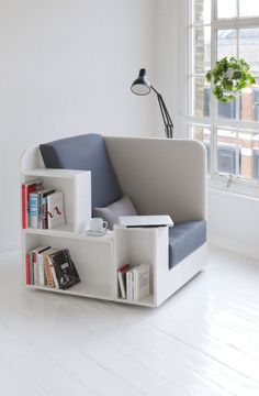 OK, so no gathering with this one, but it's a great use of space to create an illusion of privacy in an open area. Bonus: It holds the books AND the coffee! [Openbook Chair by Studio TILT, Collaborative Furniture Design, UK]