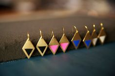 Neon Diamond Earrings