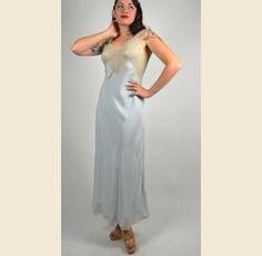 1940s Baby Blue Movie Star Nightgown - $42.00