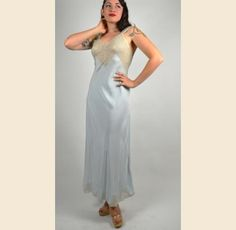 1940s Baby Blue Movie Star Nightgown - $42.00