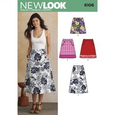 New Look 6106 Misses' Skirt Sewing Pattern