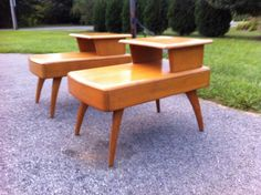 Pair of Heywood Wakefield Step End Tables by MadModWorldVintage