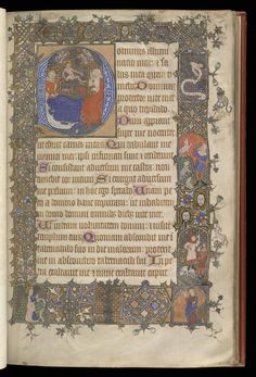 FCBTC / Medieval manuscript of the day is a historiated initial depicting the nativity. The elaborate border includes images from advent including the annunciation and the shepherds. It's a lovely page from a book of hours produced in England in the fourteenth century. British Library MS Royal 13 D I*.