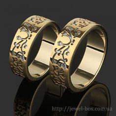 http://jewel-box.com.ua/obruchalnye-kolca/svadebnye-kolca-iz-kombinirovannogo-zolota-s-cvetochnym-uzorom  #обручальные #кольца #киев #свадьба