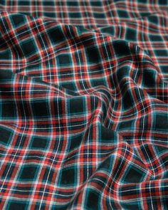 Brushed Cotton Fabric   Navy Multi Tartan   Truro Fabrics