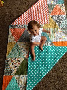 The triangle quilt How-to! - interiors-designed.com