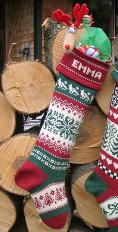 Knit Personalized Christmas Stocking  snowflake by TerrapinKnits, $48.00