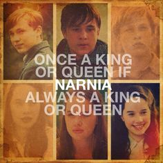 Narnia: Peter and Susan. I love the series they are my favorite! (I made the quote with the Instaquote app)