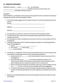 Wedding dj contract templateregularmidwesterners resume for Vesting schedule template