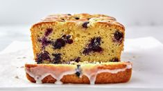 With a name like Glazed Lemon-Blueberry Loaf, you know you're in for a treat. Tangy and sweet, thanks to the fresh blueberries and lemon juice, the secret to this recipe is stirring sour cream (or plain yogurt) into the batter for an ultra-moist crumb! And because this is lemon-blueberry bread, we couldn't resist upping the flavor with a lemon-extract and powdered sugar glaze on top—don't skip it, really! True lemon lovers might want to add an garnish of fresh zest for an extra pop of citrus. Lemon Blueberry Loaf, Blueberry Oatmeal, Quick Bread Recipes, Betty Crocker, Bisquick, The Fresh, Cookies Et Biscuits, Food To Make, Bakery