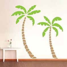Palm Tree Wall Decals by TrendyWallDesigns on Etsy