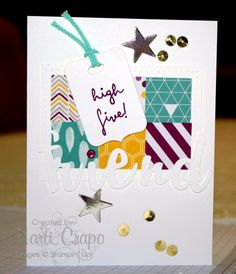 #highfive, #stampinup, 1 Fabulous Layout, 3 Great Cards | Stamp With Marti
