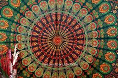 🎨 Hippie Hippy Wall Hanging ,Indian Mandala Tapestry Throw Bedspread ...