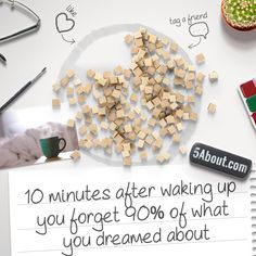 #5About Dreaming | 10 minutes after waking up you forget 90% of what you dreamed about. Share The Fact With a Friend!