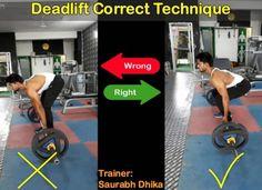 Barbell Deadlift (Rod): Wrong VS Right Form