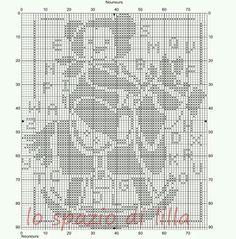 Schemi di orsetti a filet per le copertine da neonato / Teddy bear crochet filet charts for baby blankets