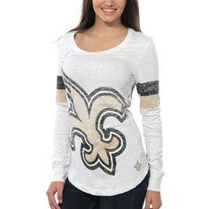 Nike New Orleans Saints Women's White Take it Long Long Sleeve T-Shirt