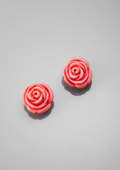 Betsey Johnson rose studs