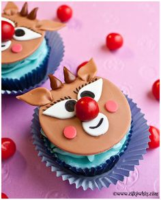 Cake Whiz | How to make Rudolph cupcakes
