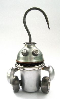Tablespoon - Found Object Assemblage Robot Sculpture by adopt-a-bot, via Flickr