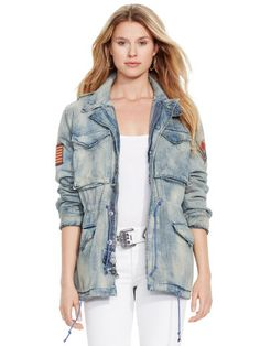 Denim Utility Jacket - Polo Ralph Lauren Jackets & Vests - RalphLauren.com Orig $298.00 marked down to $174.00. With an add 30% promo I got it for $120.06. She wins!