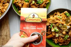 Curry noodles met kip   Kookmutsjes