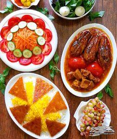 Iranian Dishes, Iranian Cuisine, Iran Food, Grilled Lamb, Smoked Fish, Food Garnishes, Mediterranean Diet Recipes, Tasty Bites, Asian Cooking
