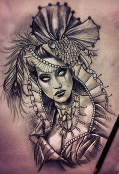 Undead Lady by SakeTattooCrew #tattoo#saketattoocrew