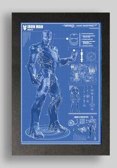 55 best blueprints images on pinterest batman family comics and game iron man mark 4 suit blueprint malvernweather Image collections