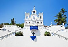 Our Lady of Immaculate Conception Church, in Panjim is an iconic landmark in Goa. London Travel, India Travel, Travel Usa, Immaculate Conception Church, Weather In India, Backpacking India, India Tour, Goa India, Church Of Our Lady