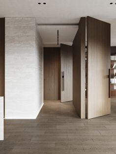 livingroom Door Design, Wall Design, Best Interior, Interior And Exterior, Home Room Design, House Design, Apartment Interior Design, Modern Spaces, House Rooms