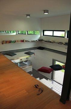 filet habitation pour vide sur séjour #combles #deco #aménagement