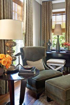 Traditional home mag- LA Designer Showhouse: Living Room: Baker Furniture Chair