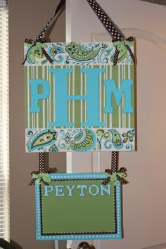 Hospital door hanger