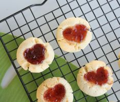 Strawberry Heart Thumbprint Cookies