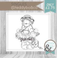 Teddy Bea_214 Bear DIGI STAMP Dancing Ballerina Bear