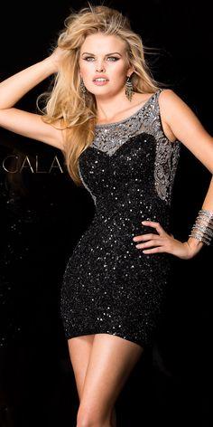 Sequin Cluster Cocktail Dress by Scala #edressme