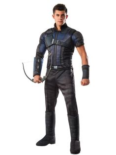 Become a part of Team Captain America in this officially licensed Deluxe Hawkeye Civil War Men's Costume. This costume features the look of Hawkeye from the Captain America: Civil War movie. Superhero Halloween Costumes, Wholesale Halloween Costumes, Halloween Costume Contest, Adult Costumes, Men's Costumes, Costume Ideas, Family Costumes, Disney Costumes, Superhero Party