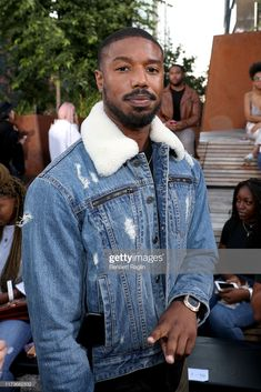 Michael B. Jordan attends the front row for Coach 1941 during New. Michael B Jordan, Black Boys, Black Men, Bae, Black King And Queen, Coach 1941, Camo Baby Stuff, Celebs, Celebrities