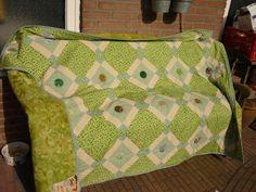noppen quilt, als bedankje gemaakt voor het organiseren van een leuke dag.