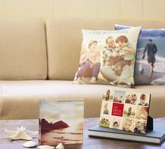 Personalized pillows and desktop plaques highlight memories within your home from Shutterfly.com